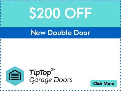 Tip Top Garage Doors Repair Raleigh - Coupon - $200 Off - New Double Door