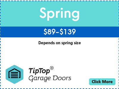 Tip Top Garage Doors Repair Raleigh - Coupon - Spring - $89 - $139 - Depends on Spring Size