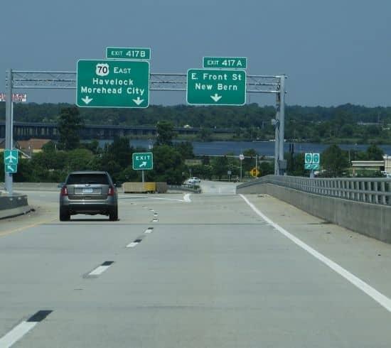 Tip Top Garage Doors Raleigh - New Bern Garage Door Repair - Exit to New Bern, NC