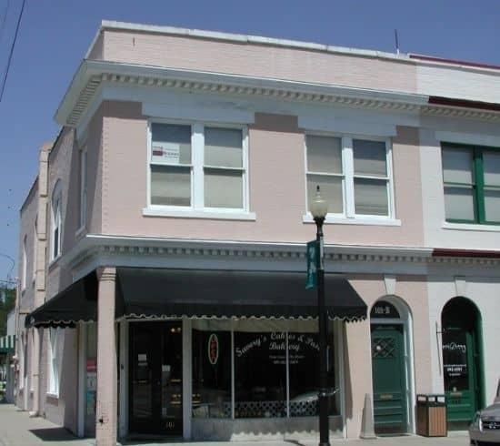 Tip Top Garage Doors Raleigh - Apex Garage Door Repair - Merchant & Farmers Bank, on Salem and Chatham streets in Apex, NC