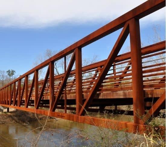 Tip Top Garage Doors Raleigh - Knightdale Garage Door Repair - Neuse River Greenway bridge at Mingo Creek in Knightdale, NC