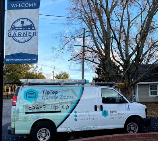 Tip Top Garage Doors Raleigh - Garage Door Van in Garner, NC