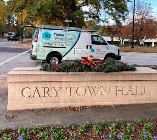 Tip Top Garage Doors Raleigh - Garage Door Van in Cary, NC