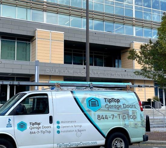 Tip Top Garage Doors Raleigh - Garage Door Van in Durham, NC