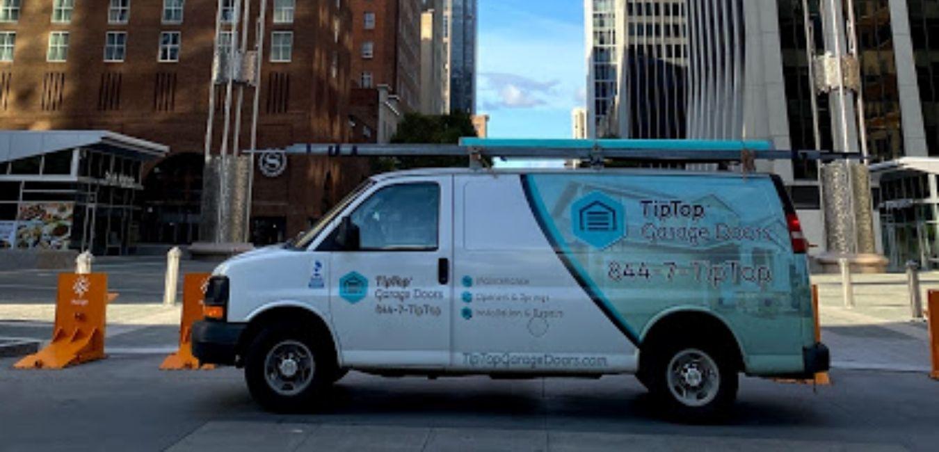 Tip Top Garage Doors Raleigh - Garage Door Van in Raleigh, NC